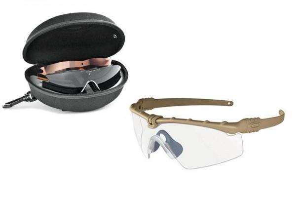 Oakley SI BALLISTIC M FRAME 3.0 ARRAY DARK BONE / CLEAR & GREY & PERSIMMON Schutz- & Schießbrille