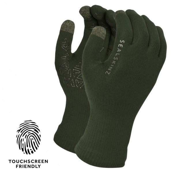 SealSkinz HANDSCHUHE ULTRA GRIP TOUCHSCREEN OLIV
