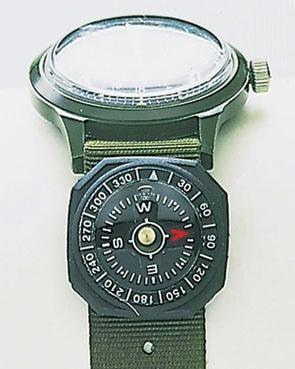 Uhrenkompass 360° Teilung Gummigehäuse