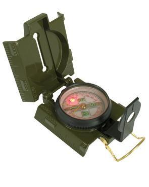 US-Kompass, Metallgehäuse, mit Beleuchtung