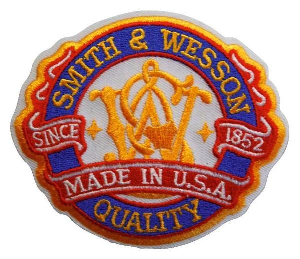"""S & W Stoffabzeichen """"Made in USA"""""""