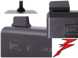Dawson Precision Front Sight Korn Glock .285 Tall x .100 Wide bl