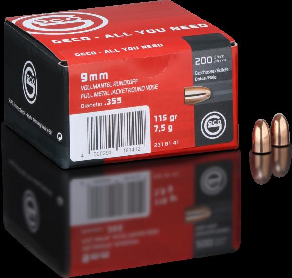 GECO 9mm VM RK 7,5g 115gr