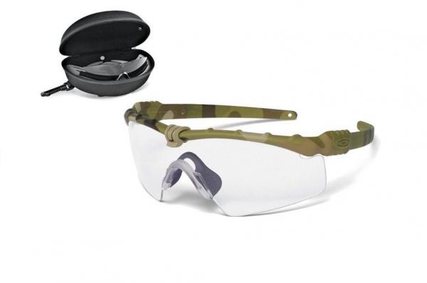 Oakley SI BALLISTIC M FRAME 3.0 MULTICAM / CLEAR & GREY Schutz- & Schießbrille