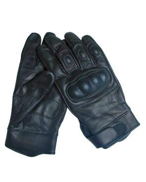 Tactical Gloves Leder schwarz