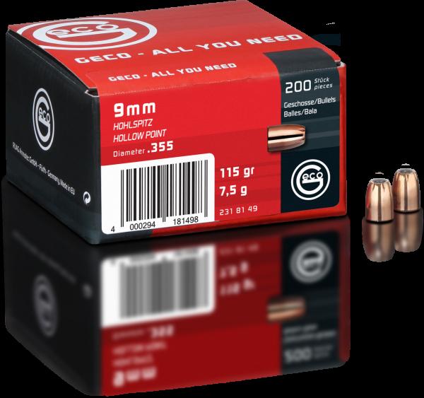 GECO 9mm Hohlspitz-Geschoss